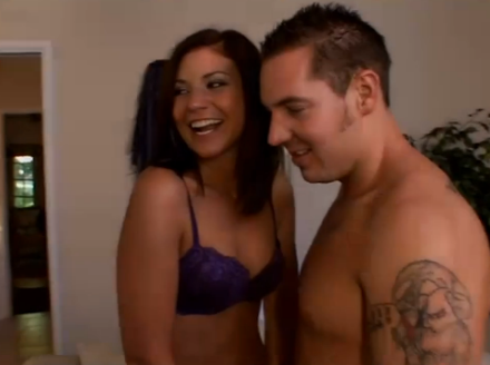 A pair of horny brunettes convince their BFs to swap partners