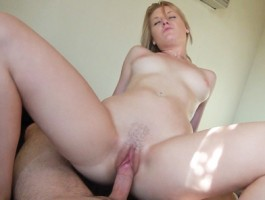 Home town slut is picked up at the bus stop in POV suck & fuck