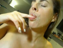 Busty Wife Receives an Awesome Cumshot