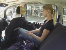 Czech Taxi Blonde Teen gets ride of her LIFE