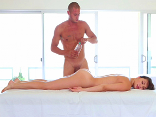 Oily massage and sex