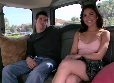 Hot Latina Chick Hops On The BangBus