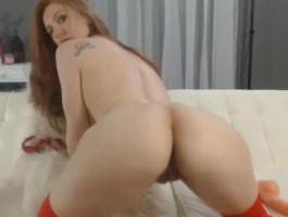 Beautiful Coed Redhead Masturbating