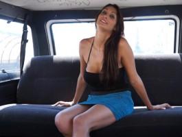 Pretty Spanish Brunette fucked hard in a Van