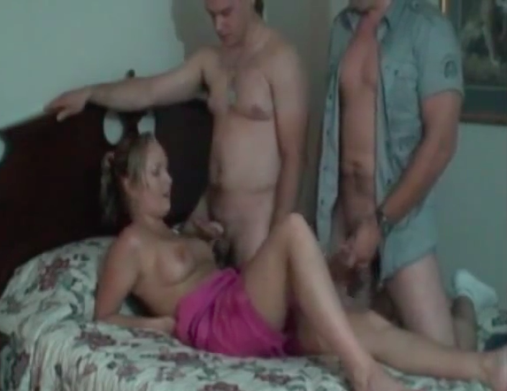 Milf gets two cocks