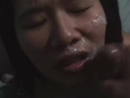 Asian homemade amature facial