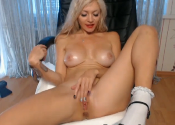 Busty Blonde Creamy Wet Orgasm