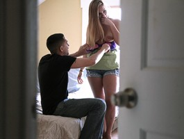 Mofos - Hot blonde and her Bf makes a sex tape