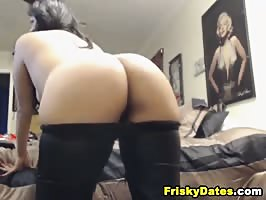 Latina with Perfect Round Ass