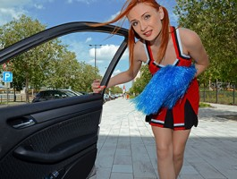 StrandedTeens - Hitchhiking cheerleader gets more than she expected