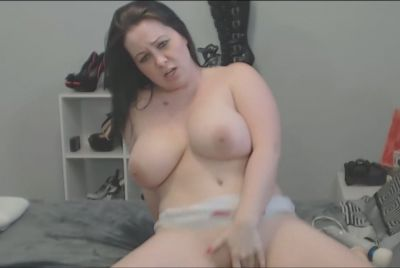 BBW Chick Double Dildo Blowjob And Masturbation