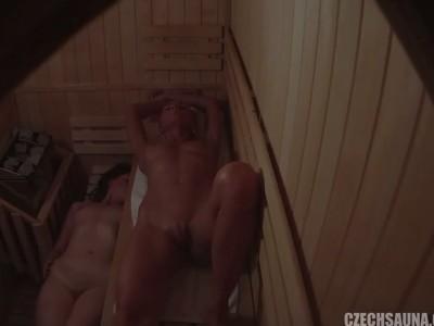 Two Amazing Figures Spied in Sauna