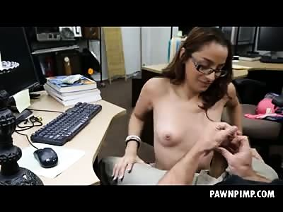College Girl In Da Pawn Shop Sucking And Riding Dick