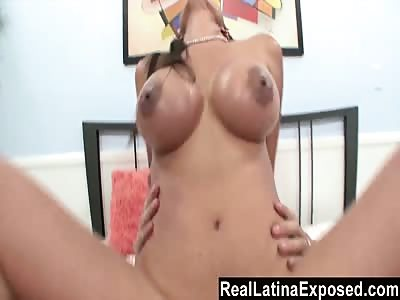RealLatinaExposed  Alexis Breeze huge boobs sprayed with jizz