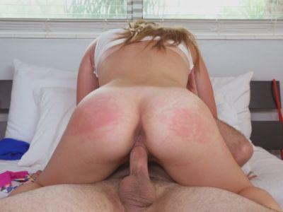 Alyssa gets her way with horny dad's pal