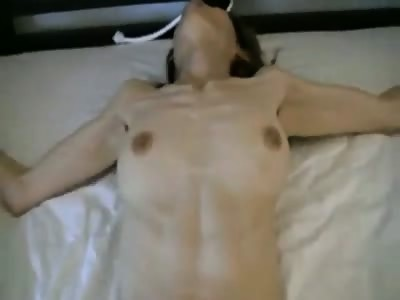My Tied Asian slave Maudi subject to big vibrator