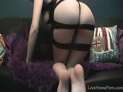 Beautiful redhead with big tits plays with herself