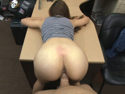 Lovely babe shows off ass and smashed at the pawnshop