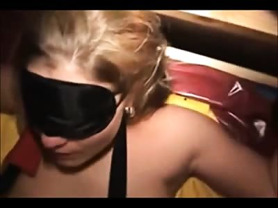 slave Silvana fisted and feeded with cum