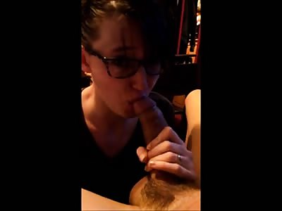 Rimjob and blowjob on large uncut cock