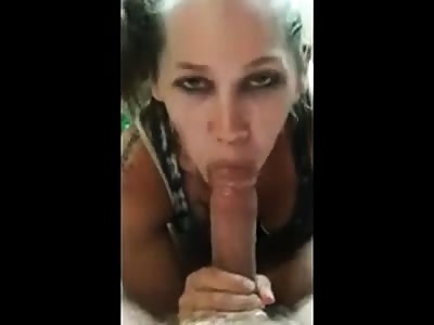 Good girl shows she sucked all the cum out