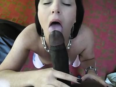Milf throating her first BBC