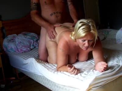 Blonde bit tittied pierced wife gets rocked
