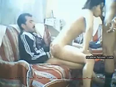 Arab amateur threesome with milf Nadia