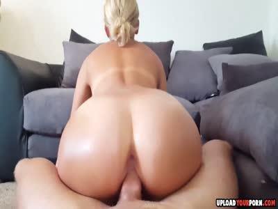 Stunning Blonde Sucking And Fucking