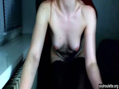 Beautiful Redhead  Shows Pale Body