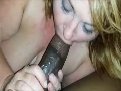 Sexy BBW feasting and moaning on his BBC