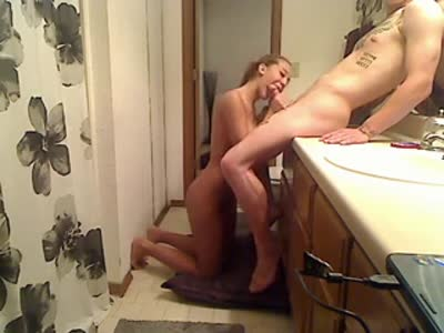 Perfect teen bathroom sex