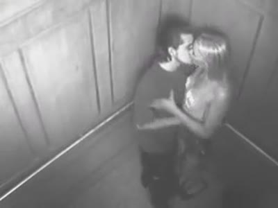 couple caught having sex in an elevator