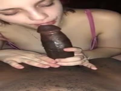 Curvy bitch sucks BBC before riding it