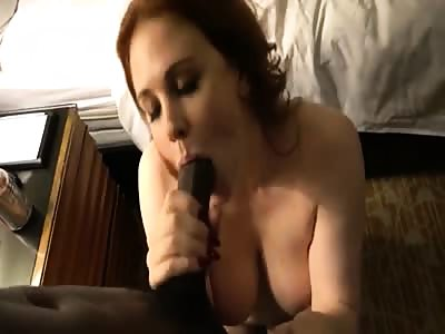 Filming her friend with a huge black cock
