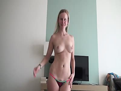 German hot wife creampie sex on vacation