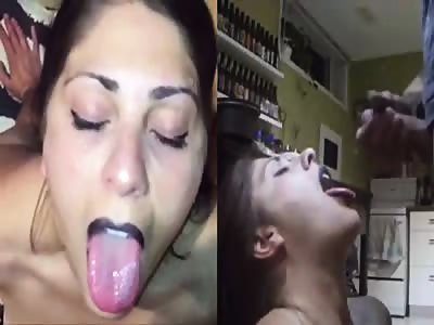 Double POV big facial cum slut
