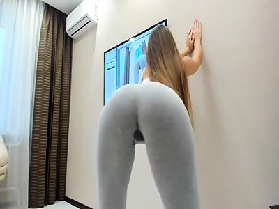 Teen Squirting in Yoga Pants - Watch Part2 on CUMCAM,COM