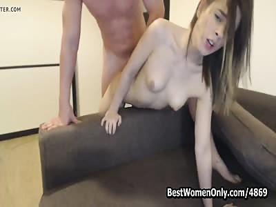 Young Russian Couple Likes Sex Show Trought Webcam