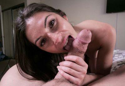 Gianna demonstrates pro oral skills pov style