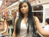 Gorgeous gf nude in public
