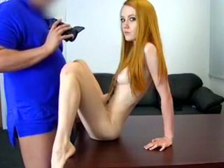 GORGEOUS redhead gets anally violated